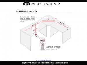 Sistema electrificación de la mesa oficina