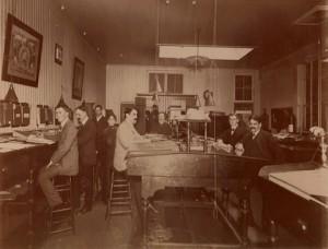 Muebles para la oficina en la industrialización