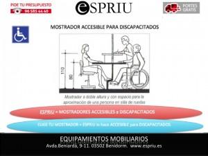 Mostrador accesible para discapacitados